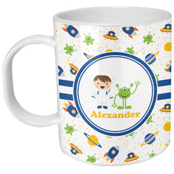 Boy's Space Themed Plastic Kids Mug (Personalized)