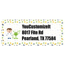 Boy's Space Themed Return Address Labels (Personalized)