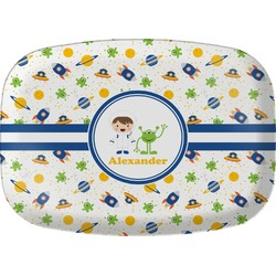 Boy's Space Themed Melamine Platter (Personalized)