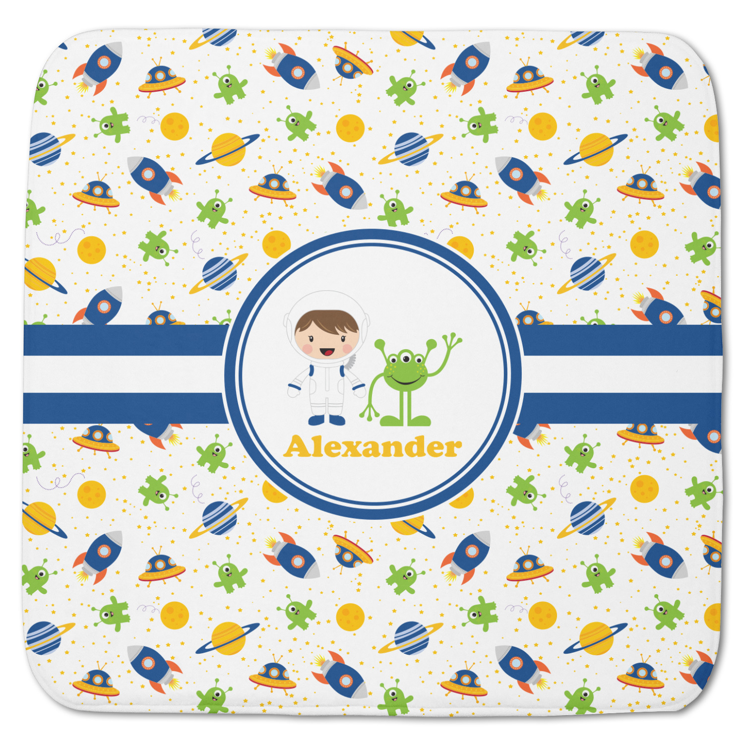 Boy 39 s space themed memory foam bath mat 48 x48 for Space themed bathroom