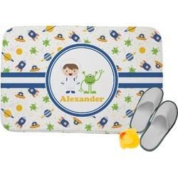"Boy's Space Themed Memory Foam Bath Mat - 24""x17"" (Personalized)"