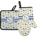 Boy's Space Themed Oven Mitt & Pot Holder (Personalized)