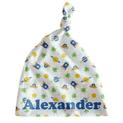 Boy's Space Themed Newborn Hat - Knotted (Personalized)