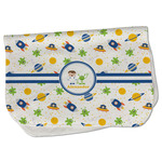Boy's Space Themed Burp Cloth - Fleece w/ Name or Text