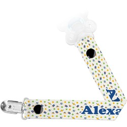 Boy's Space Themed Pacifier Clips (Personalized)