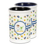 Boy's Space Themed Ceramic Pencil Holder - Large