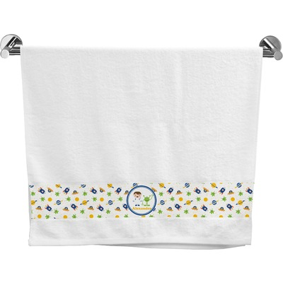 Boy 39 s space themed bath towel personalized youcustomizeit for Space themed bathroom