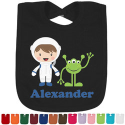 Boy's Space Themed Baby Bib - 14 Bib Colors (Personalized)