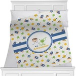 Boy's Space Themed Blanket (Personalized)