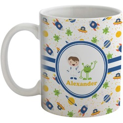 Boy's Space Themed Coffee Mug (Personalized)