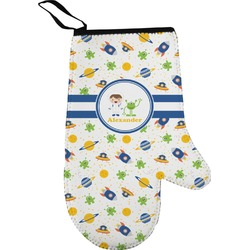 Boy's Space Themed Right Oven Mitt (Personalized)