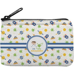 Boy's Space Themed Rectangular Coin Purse (Personalized)