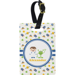Boy's Space Themed Rectangular Luggage Tag (Personalized)