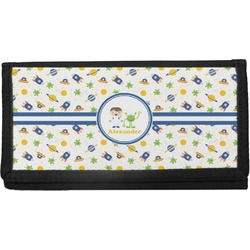 Boy's Space Themed Canvas Checkbook Cover (Personalized)
