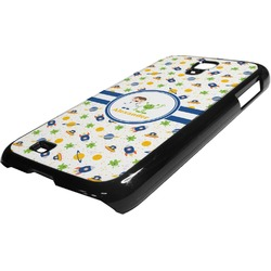 Boy's Space Themed Plastic Samsung Galaxy 4 Phone Case (Personalized)