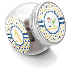 Boy's Space Themed Puppy Treat Jar (Personalized)
