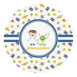 Boy's Space Themed Round Decal - Custom Size (Personalized)