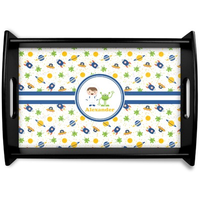 Boy's Space Themed Wooden Trays (Personalized)