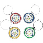 Boy's Space Themed Wine Charms (Set of 4) (Personalized)