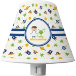 Boy's Space Themed Shade Night Light (Personalized)