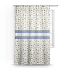 Boy's Space Themed Sheer Curtains (Personalized)