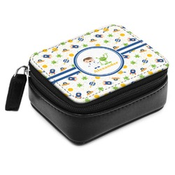 Boy's Space Themed Small Leatherette Travel Pill Case (Personalized)
