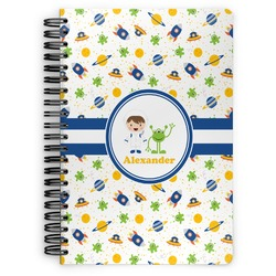 Boy's Space Themed Spiral Bound Notebook (Personalized)