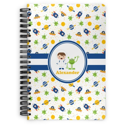 Boy's Space Themed Spiral Notebook (Personalized)
