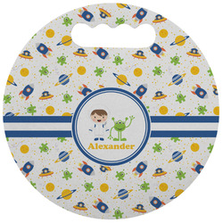 Boy's Space Themed Stadium Cushion (Round) (Personalized)