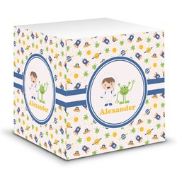 Boy's Space Themed Sticky Note Cube (Personalized)