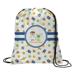Boy's Space Themed Drawstring Backpack (Personalized)