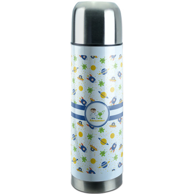 Boy's Space Themed Stainless Steel Thermos (Personalized)