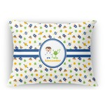 Boy's Space Themed Rectangular Throw Pillow Case (Personalized)