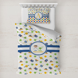 Boy's Space Themed Toddler Bedding w/ Name or Text