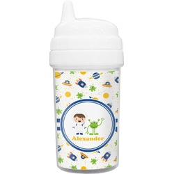 Boy's Space Themed Toddler Sippy Cup (Personalized)