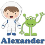 Boy's Space Themed Graphic Decal - Custom Sized (Personalized)
