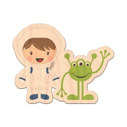 Boy's Space Themed Genuine Wood Sticker (Personalized)