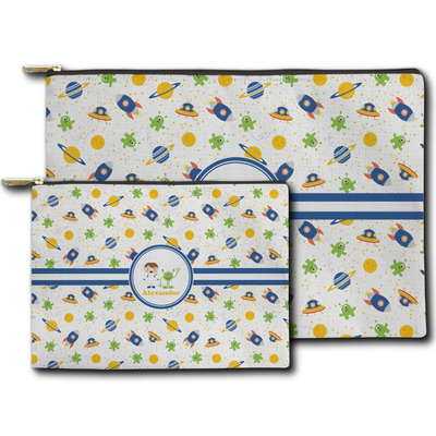 Boy's Space Themed Zipper Pouch (Personalized)