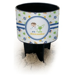 Boy's Space Themed Black Beach Spiker Drink Holder (Personalized)