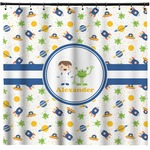 Boy's Space Themed Shower Curtain (Personalized)