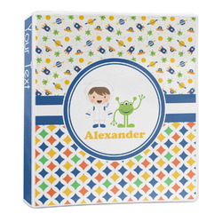 Boy's Space & Geometric Print 3-Ring Binder - 1 inch (Personalized)