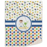 Boy's Space & Geometric Print Sherpa Throw Blanket (Personalized)
