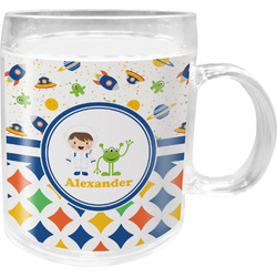 Boy's Space & Geometric Print Acrylic Kids Mug (Personalized)