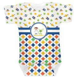 Boy's Space & Geometric Print Baby Bodysuit (Personalized)