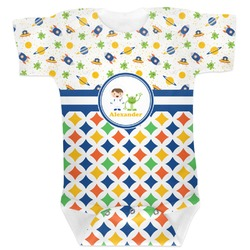 Boy's Space & Geometric Print Baby Bodysuit (Personalized)