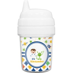 Boy's Space & Geometric Print Baby Sippy Cup (Personalized)