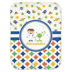 Boy's Space & Geometric Print Baby Swaddling Blanket (Personalized)