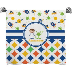 Boy's Space & Geometric Print Full Print Bath Towel (Personalized)