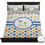 Boy's Space & Geometric Print Duvet Cover Set (Personalized)