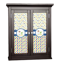 Boy's Space & Geometric Print Cabinet Decal - XLarge (Personalized)